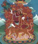 Dorje Drolo Wandgemälde