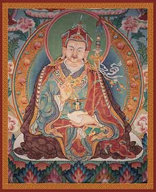 Padmasambhava Wandgemälde