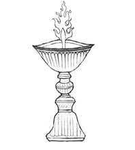 butterlamp with flame